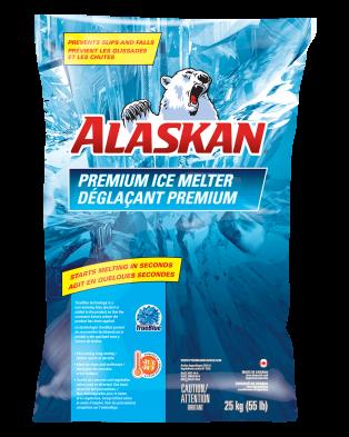 Alaskan Premium Ice melter bag 25 kg front