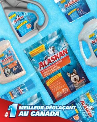 Déglaçant doux pour les animaux Alaskan®