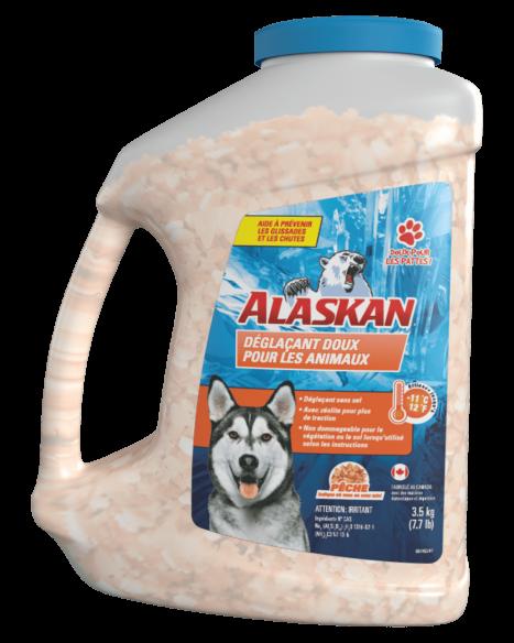 Déglaçant doux pour les animaux Alaskan® contenant